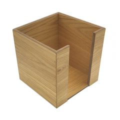 oak veneered Napkin Holder 200x200x200