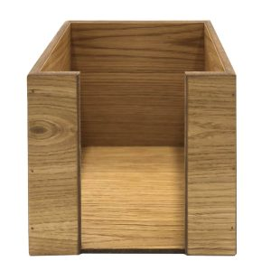 oak napkin holder 200x200x200 front view