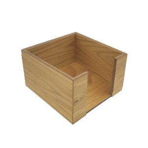 oak veneered napkin holder 200x200x100