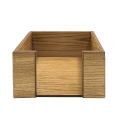 oak veneered napkin holder 200x200x100 front view