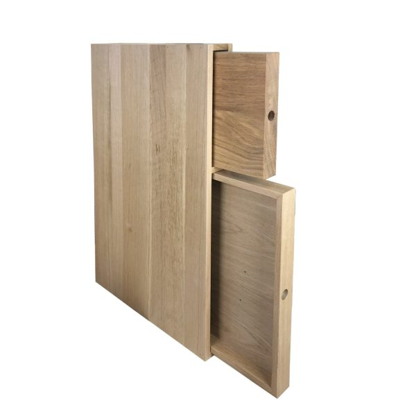 Oak chopping board and tray unit 68x411x688