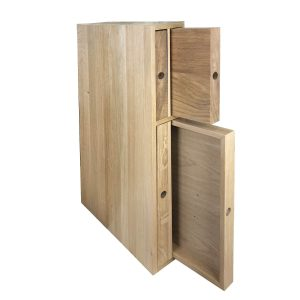 Oak double chopping board and tray unit 118x411x688 in situ O&B
