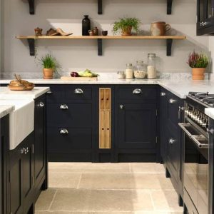 Oak double chopping board and tray unit 118x411x688 in situ O&B 2