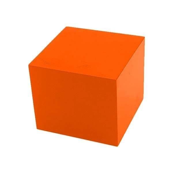 Orange Painted Pine Block Riser 140x140x120