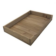 Rustic Brown Rustic Curved Drop Front Tray 530x343x70
