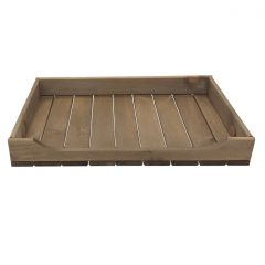 Rustic Brown Rustic Curved Drop Front Tray 530x343x70 front view
