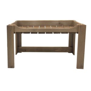 Rustic Brown Rustic Slatted Beverage Display Stand 645x256x345 front view