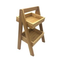 2-Tier Slanted Oak A-Frame Display Stand 316x250x500