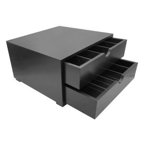 B2/3 Black Oak Tea and coffee Station 424x398x244 drawers open