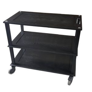 Burford Long Black Oak Hospitality Trolley 1010x558x855