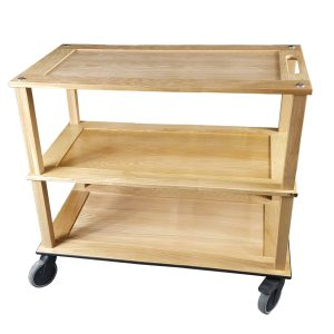 Burford Long Natural Oak Hospitality Trolley 1010x558x855