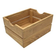 GN1/2 Gastronorm Oak Crate 353x293x175