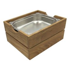 GN1/2 Gastronorm Oak Crate 353x293x175 with gastronorm