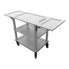 Gretton Grey Burford Painted Oak Drop Leaf Hospitality Trolley 805-1460x558x855