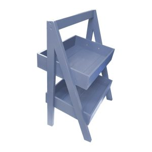 Kingscote Blue Painted 2-Tier Slanted Wooden A-Frame Display Stand 410x310x650