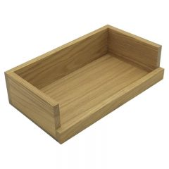Oak Drop Front Tray 303x172x80