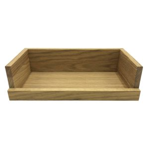 Oak Drop Front Tray 303x172x80 detail