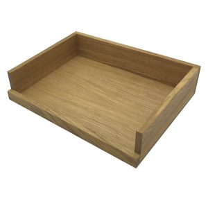Oak Drop Front Tray 375x290x80