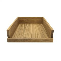 Oak Drop Side Tray 375x290x80 front view
