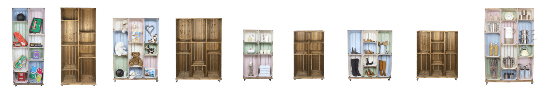 Crate Wall Displays