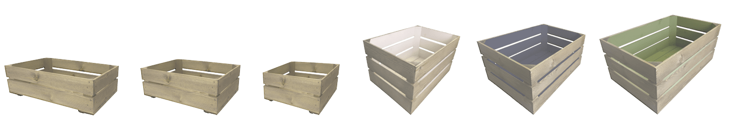 wooden crate size guide
