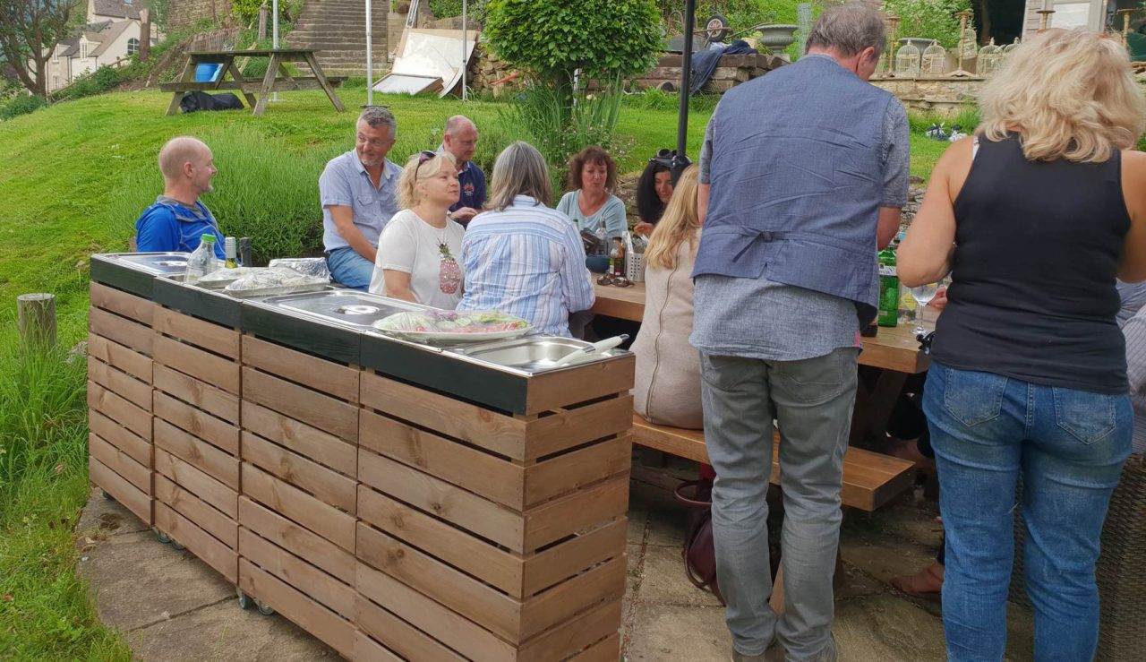Alfresco Dining with Gastronorm Crates