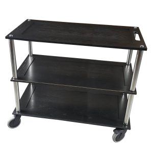 Bourton Long Black Oak Hospitality Trolley 1010x558x855