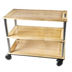 Bourton Long Natural Oak Hospitality Trolley 1010x558x855