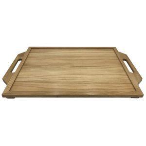 Oak Butlers Tray 710x470x36 side view