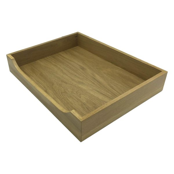 Oak Curved Drop Front Tray 423x333x70