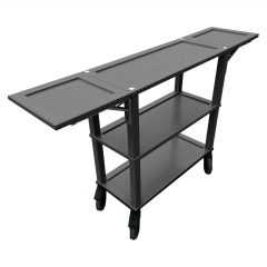 Amberley Grey Painted Oak Console Trolley 834/1460x343x855 drop leafs extended