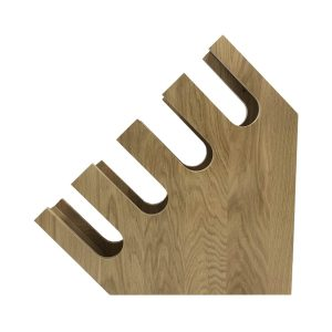 Oak Slanted Cup Holder 465x127x465 side view
