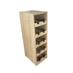 Handmade Oak Double 10 bottle wine rack 218x288x688