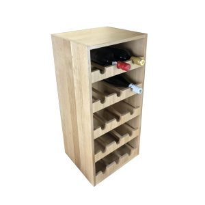Handmade Oak Triple 15 bottle wine rack 318x288x688 with wine
