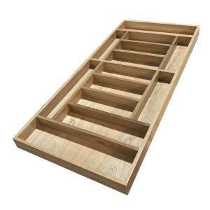 Handmade Oak 13 Compartment Cutlery Drawer Insert 470x1022x55