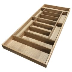 Handmade Oak 13 Compartment Cutlery Drawer Insert 470x1072x55