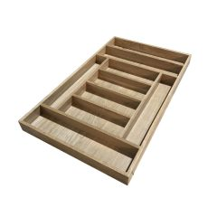 Handmade Oak 9 Compartment Cutlery Drawer Insert 470x775x55