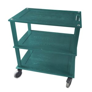 Burford Turquoise Painted Oak Hospitality Trolley side view