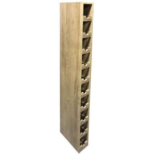 Oak 1x10 10 bottle wine rack 116x288x1406