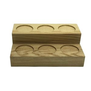 2-tier Ash block riser 270x180x90 with 3 circular rebates front view