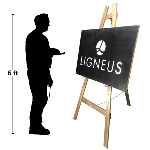 Artist Easle with silhouette scale