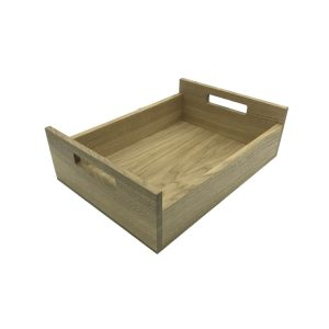 Oak Tray with Integrated Raised Handle 425x310x128
