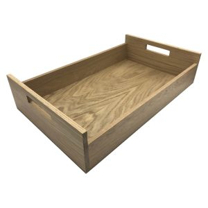 Oak Tray with Integrated Raised Handle 580x360x128