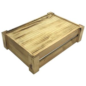 Scorched Pine Mini Crate 340x230x90 upturned