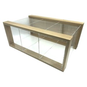 Triple Oak & Acrylic Bread Bin Casing 550x350x230