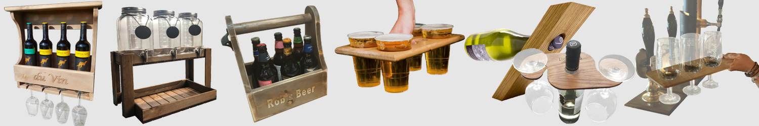 Wooden Barware and Drinking Accessories
