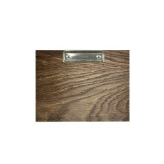 A5 Landscape dark brown oak veneered clipboard with clip 230x175x6