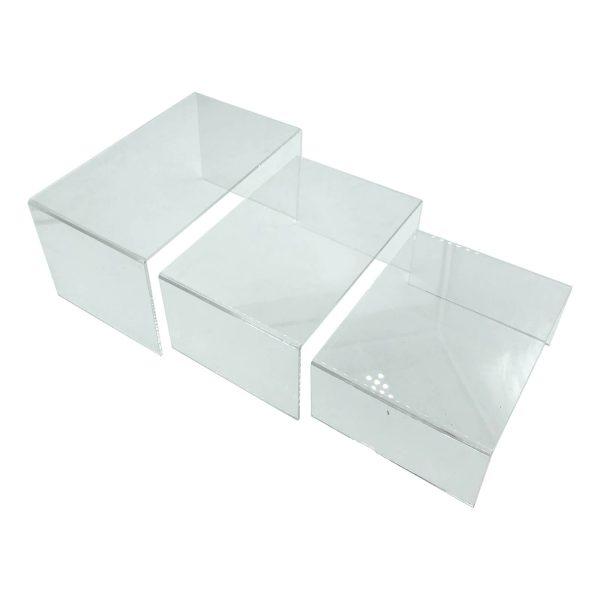 Clear Acrylic Square Riser set