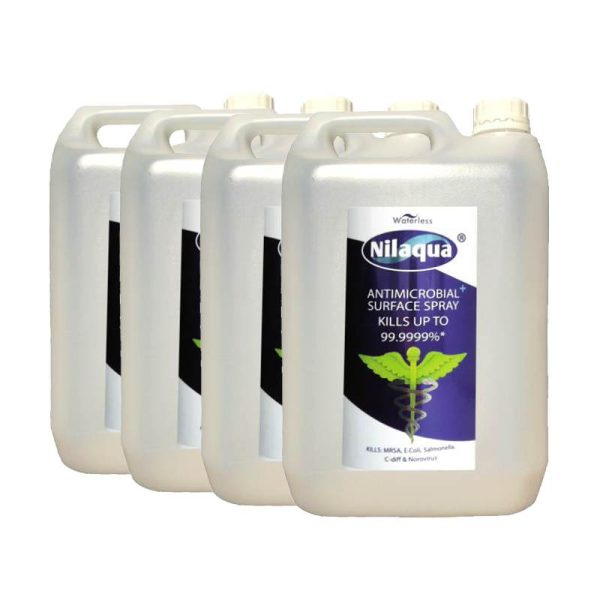 Nilaqua Antimicrobial Surface Spray Refill 5l 4 Pack