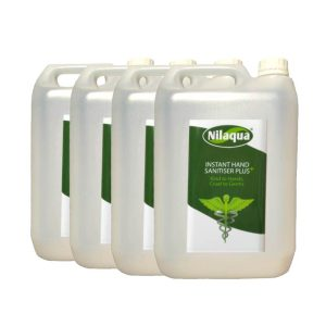 Nilaqua instant hand sanitiser plus Refill 5l 4 Pack